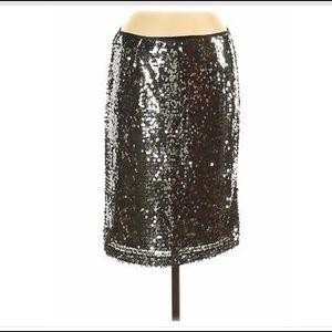 NWT Carmen Marc Valvo Sequin 'Evia' Skirt